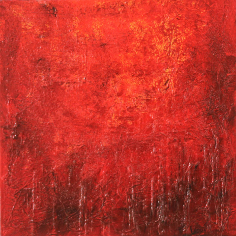 """Gemälde """"abstract red"""" 60x60 cm"""