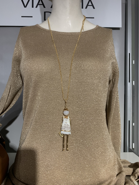 Lebek Lurex Pullover