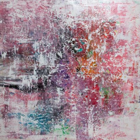"""Gemälde """"abstract rosé"""" 80x80 cm"""