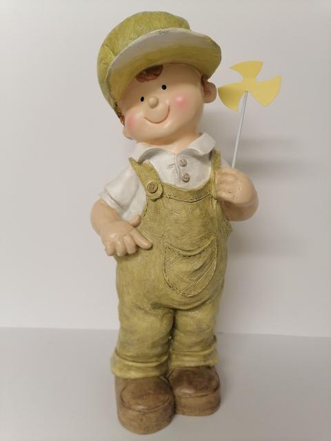 Figur Junge mit Windrad
