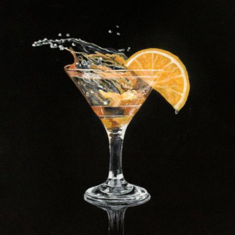 Gemälde Cocktail 50x50 cm