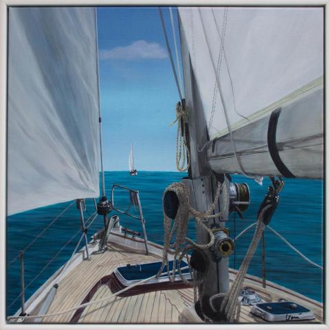 Original fineart Gemälde 60x60 cm im Rahmen