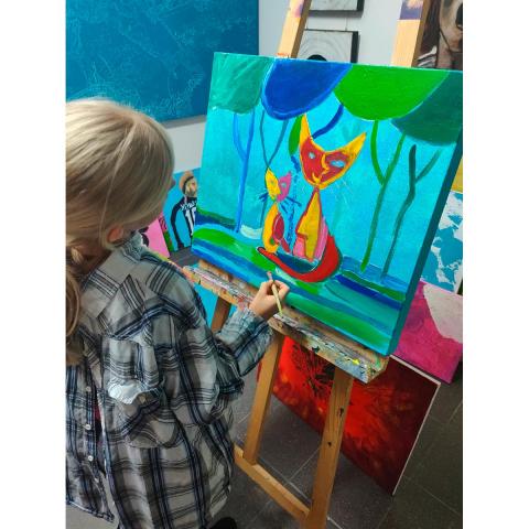 Schnuppermonat im Galerieatelier authenticART für Kinder