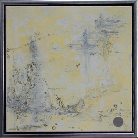 "Gemälde ""abstract white"" 40x40 cm im Rahmen"