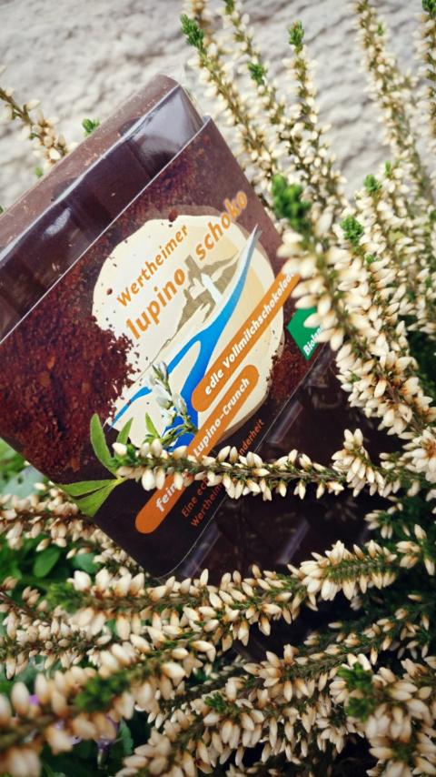 Lupino-Schoko, Vollmilchschokolade mit Lupinenkaffeecrunch