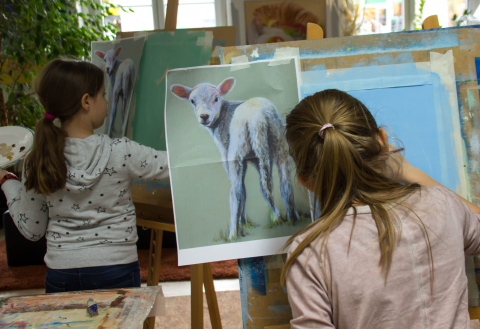 1 Monat Schnuppermalen Jugendkunstschule 8-11 Jahre