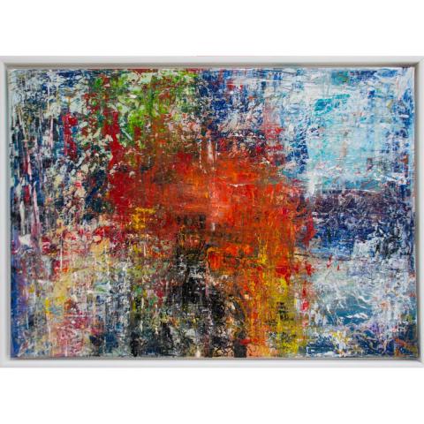 Resin-Gemälde im Rahmen 50x70 cm