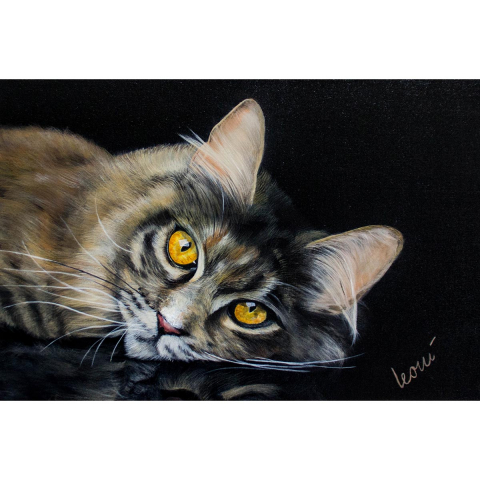 Gemälde Tierportrait 40x60 cm